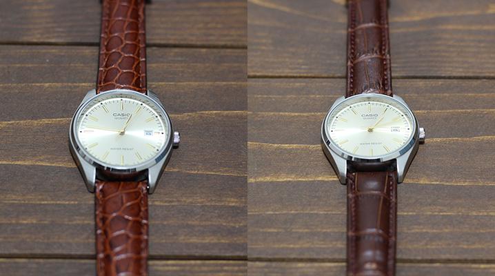 アナログ時計のおすすめチープカシオMTP-1175E-9AJ - ベルト比較