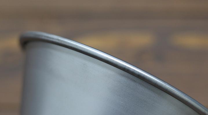 カール加工されたフチ - スノーピークシェラカップE-103