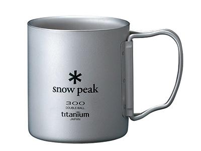 snow peak チタンダブルマグ 300