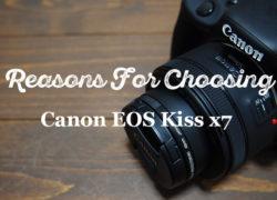 APS-Cサイズの一眼レフにCanon EOS Kiss x7を選んだ理由