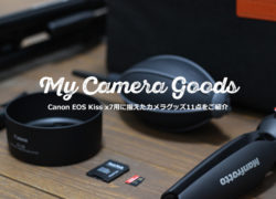 Canon EOS Kiss X7と一緒に購入したカメラグッズ11点紹介