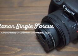 Canonの撒き餌・単焦点レンズEF 50mm F1.8 STM実写レビュー