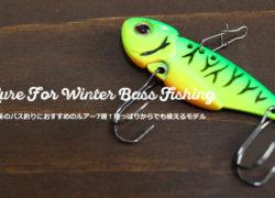 冬のバス釣りにおすすめの定番ルアー7選!初心者にもおすすめ